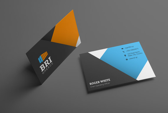 The business card designs for BRI Greece.