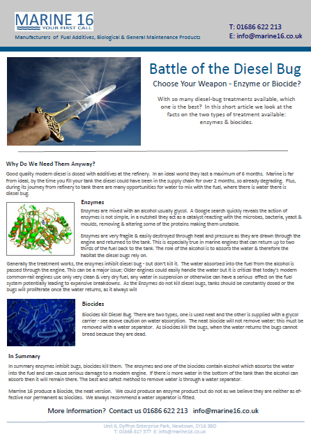 With so many diesel bug additives available, which one is the best? In this blog we share some facts on the two types of treatment available; enzymes and biocides.