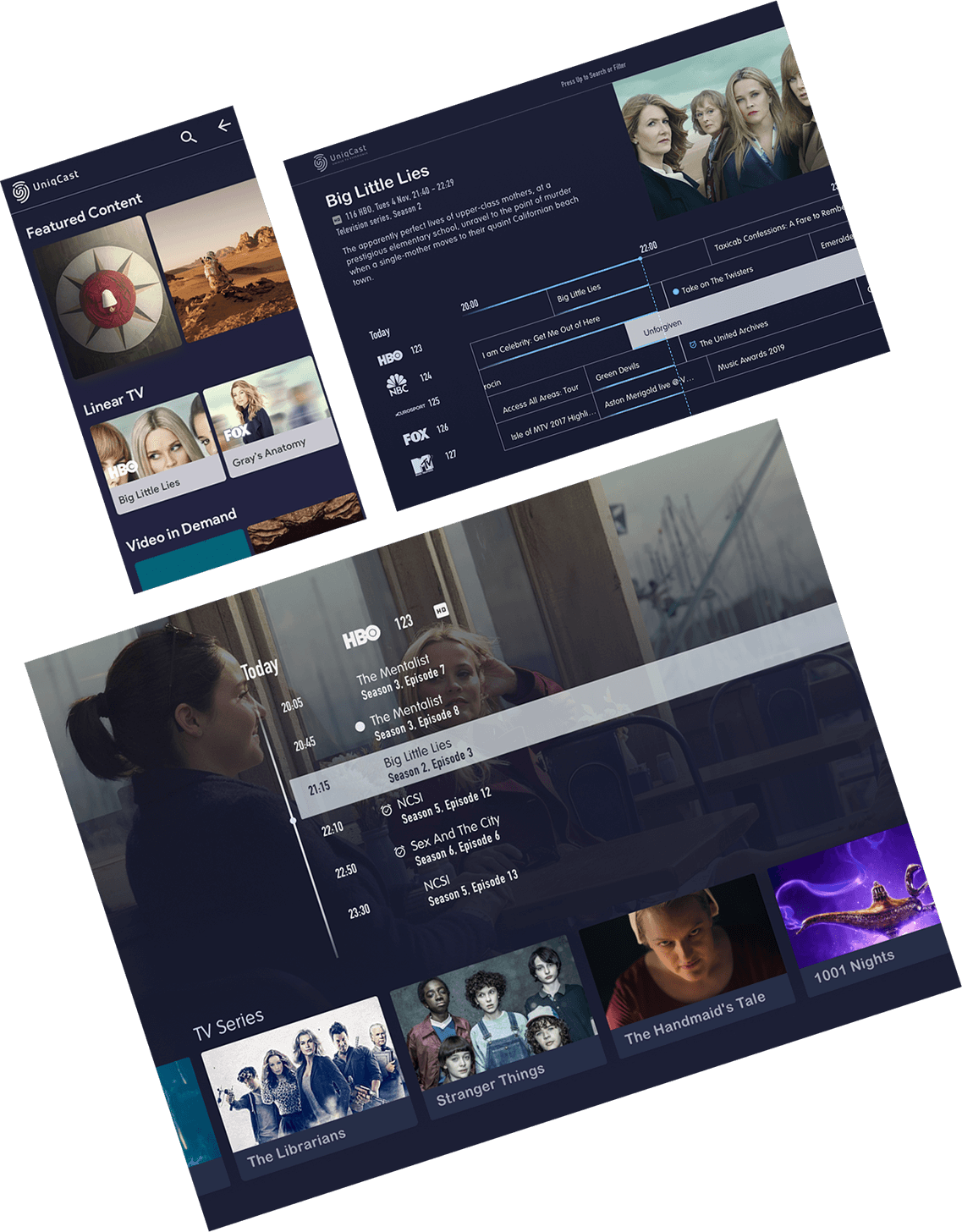 UniqCast Turnkey OTT / DVB Solution enables cable, DTT and DTH providers to introduce interactivity and multiscreen features to differentiate toward competitors