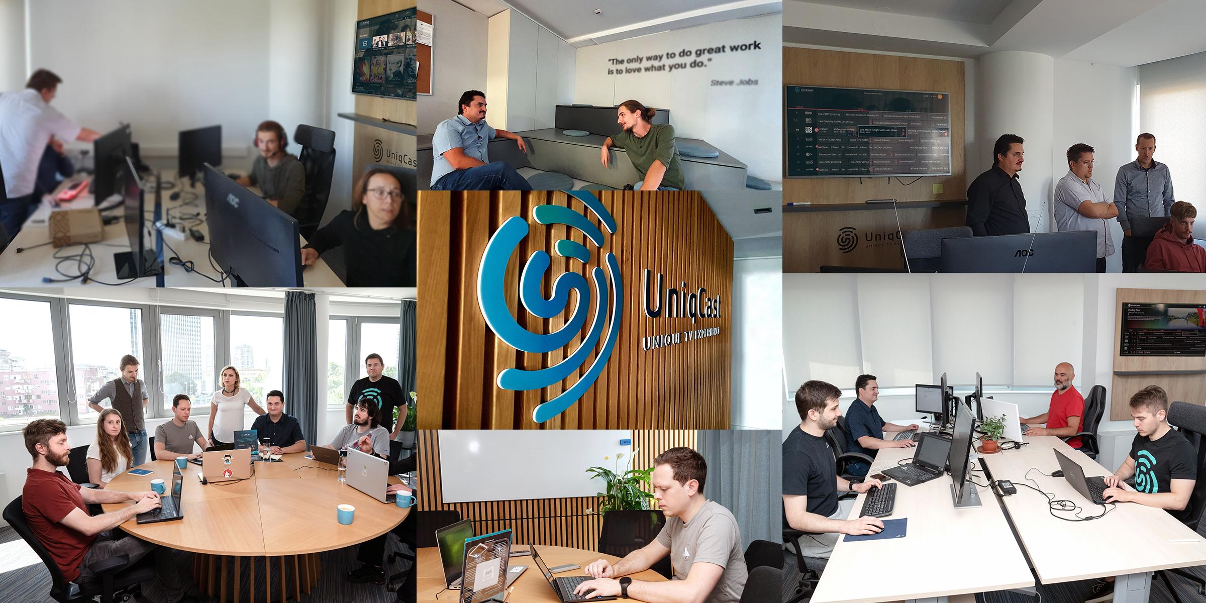 UniqCast Turnkey Solution Zagreb Office life team