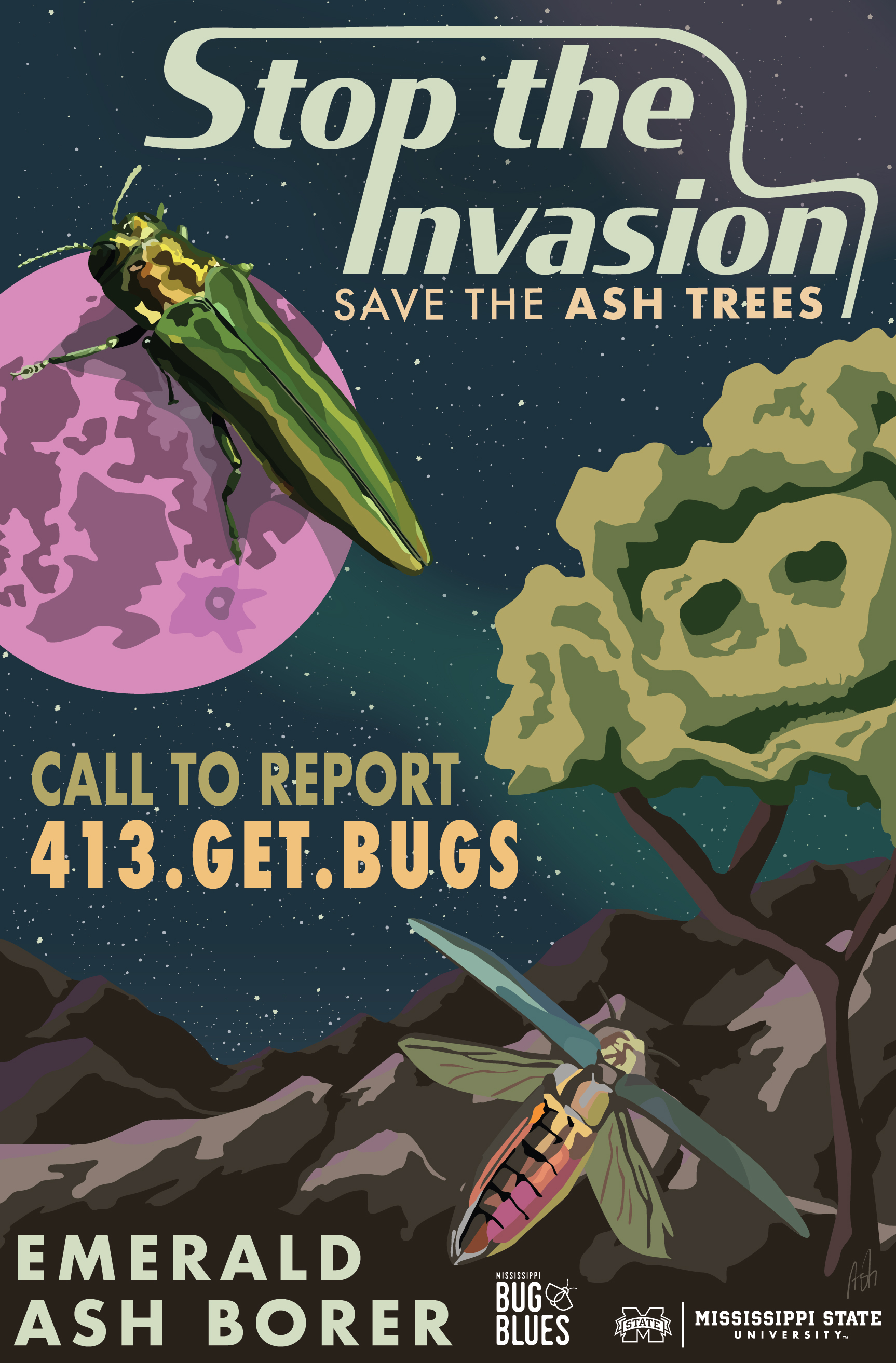 stop the spread invasive insect spotted lanternfly lantern fly awareness WPA crop crops field  grapes get bugs getbugs pdf mississippi bug blues emerald ash borer stop the invasion