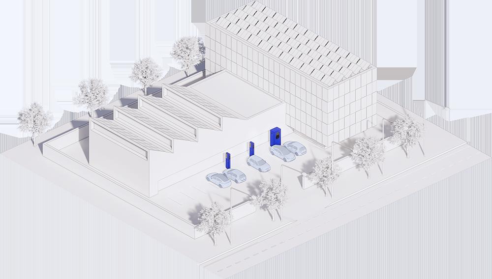 Axonometrie areálu firmy