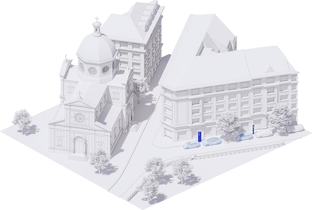 Axonometrie historického centra