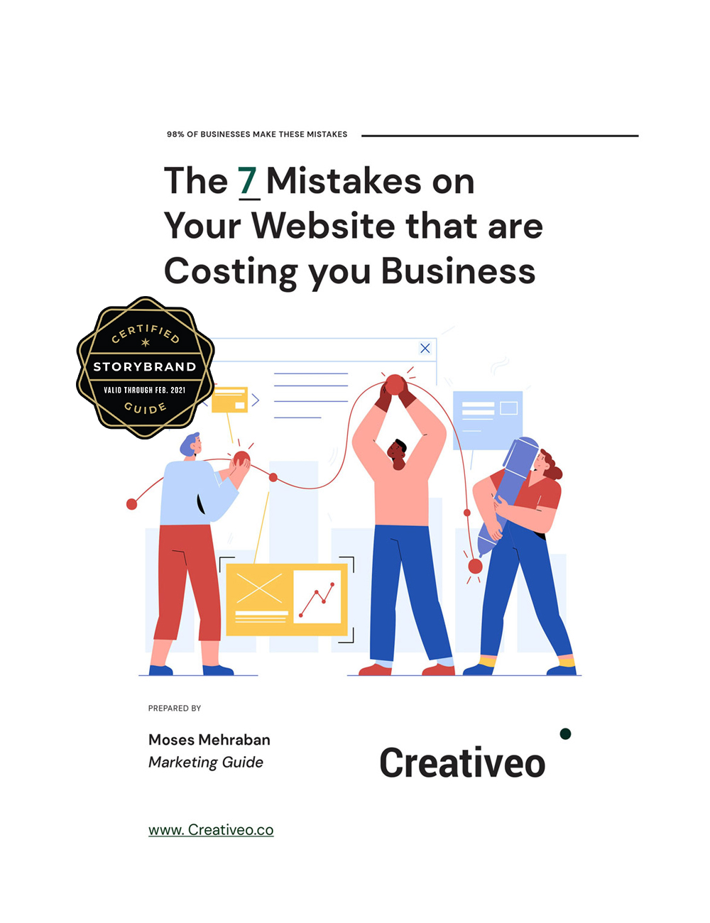 Free PDF - the 7 Mistakes on your website that are costing you business