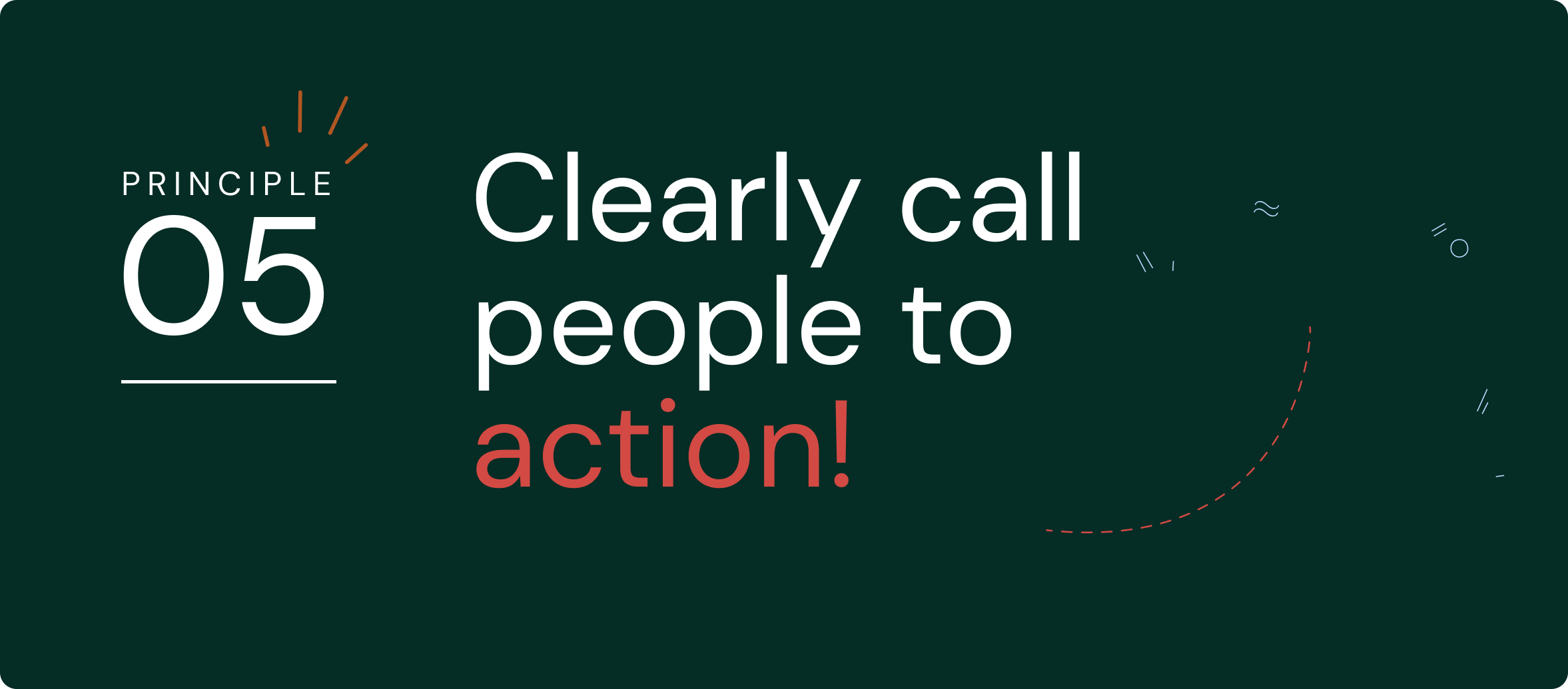 Clearly call people to action