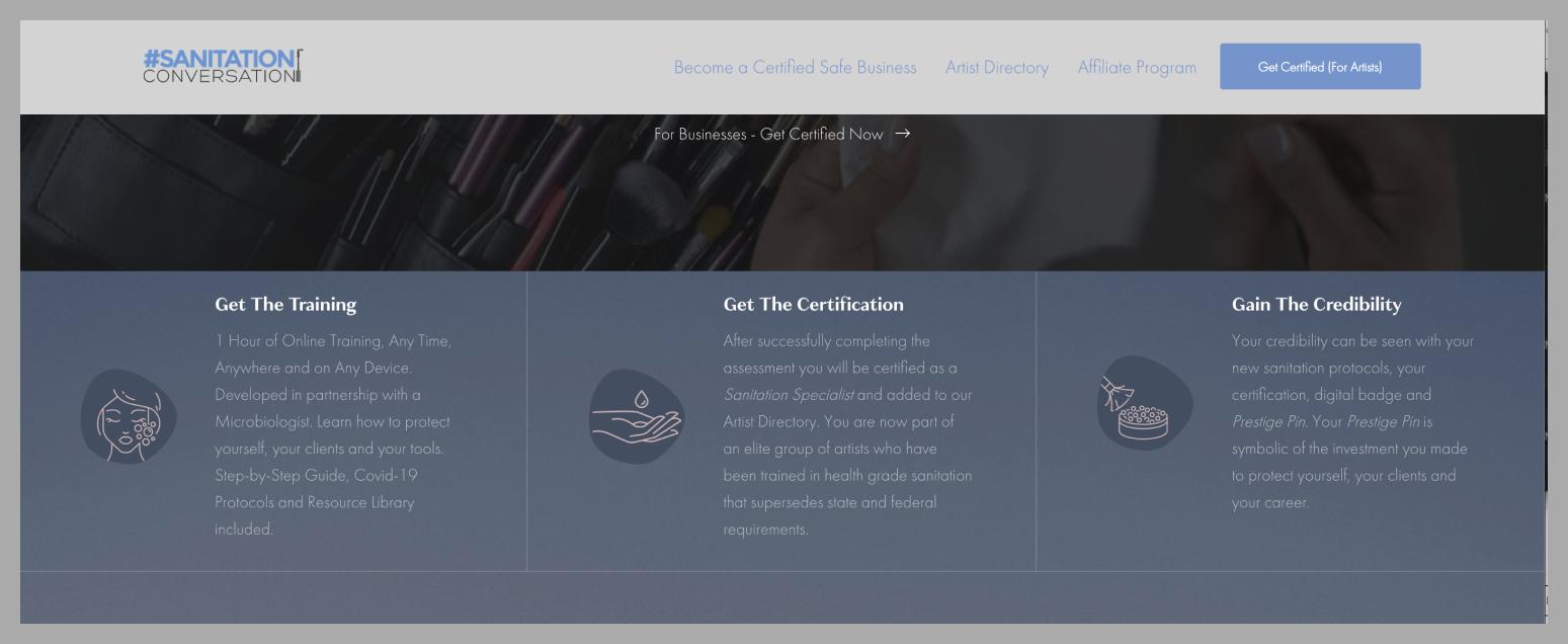 Sanitation Conversation - Storybrand website example