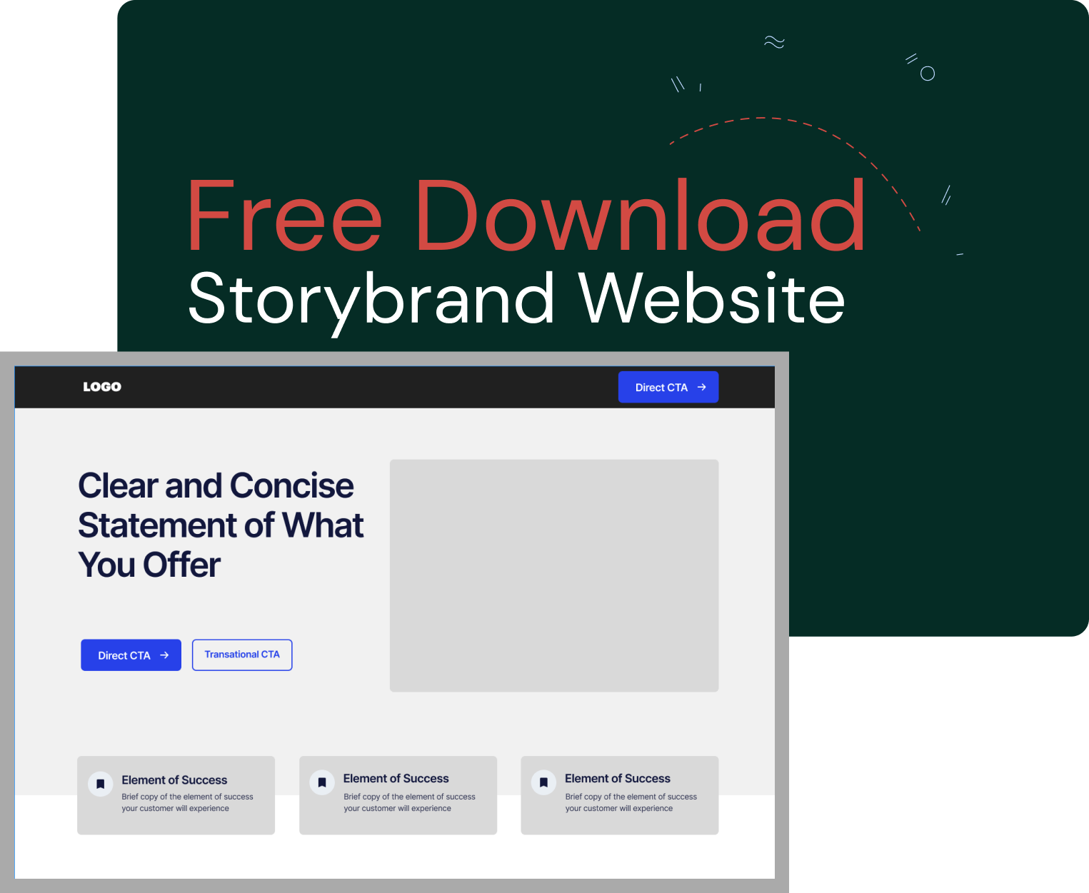 Storybrand website wireframe for download