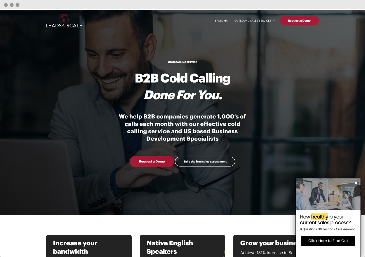 StoryBrand Website Example #1 – Leads at Scale