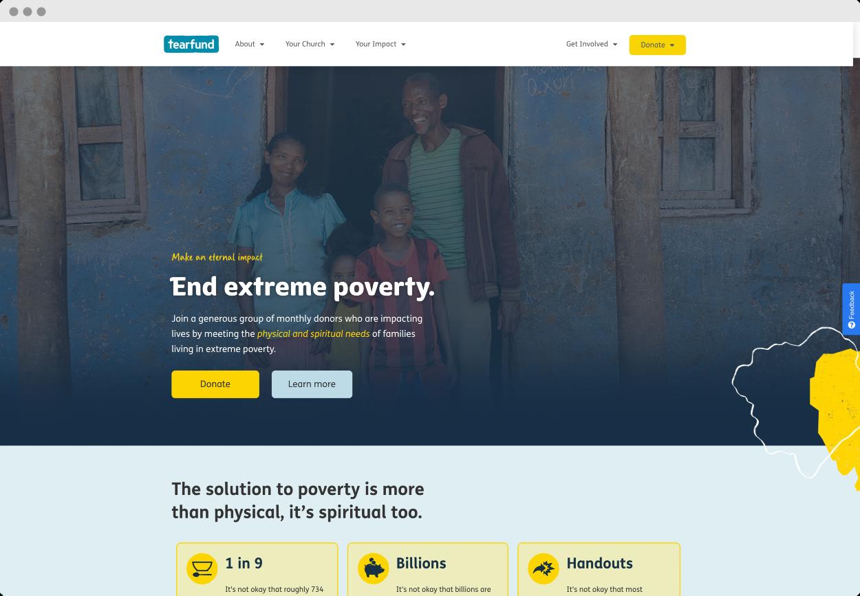 StoryBrand Website Example #2 – Tearfund | nonprofit