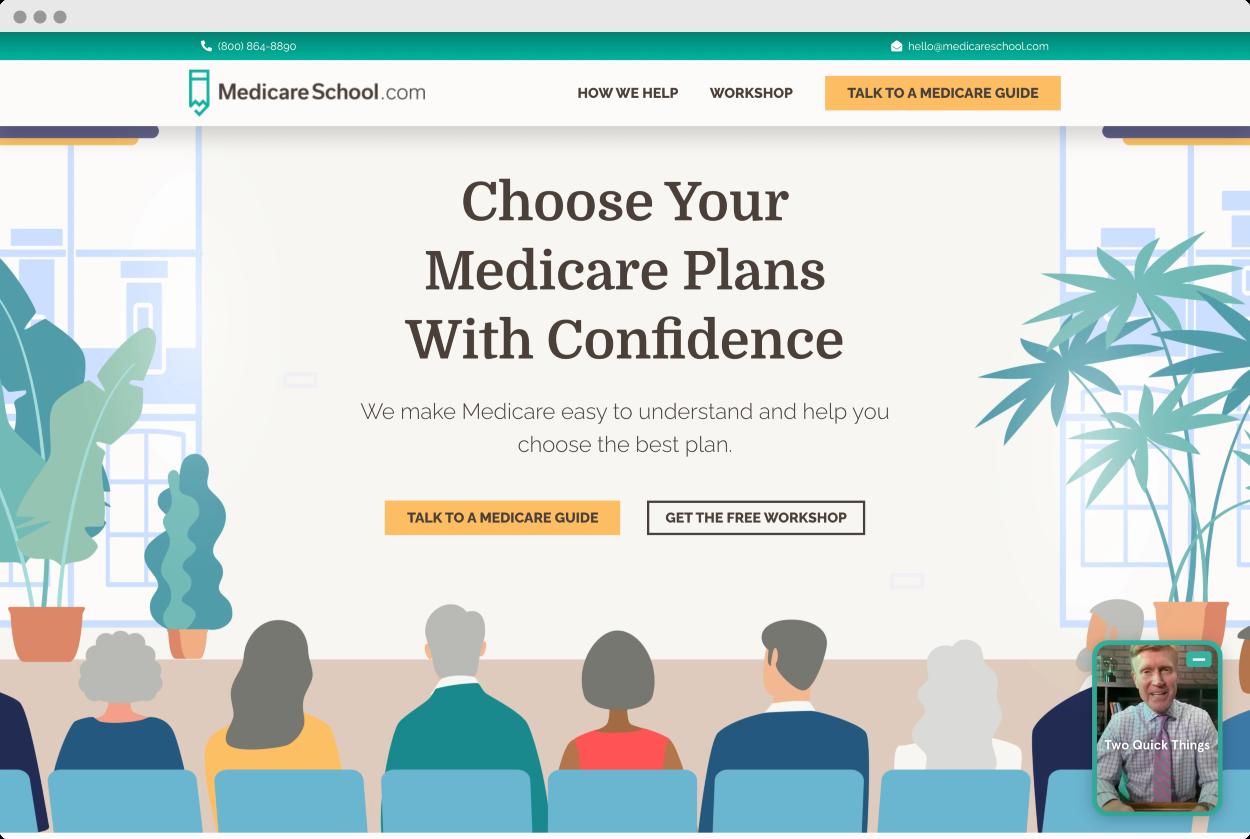 StoryBrand Website Example #10 – Medicare School