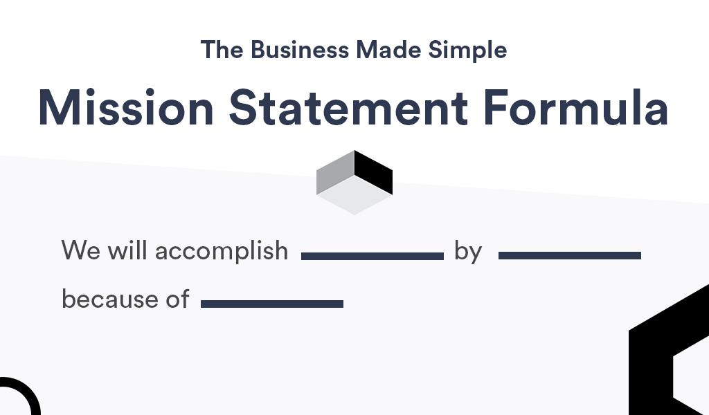 Mission Statement Formula