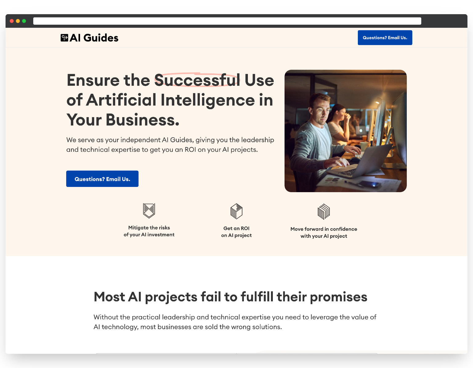 AI Guides - StoryBrand Website Example