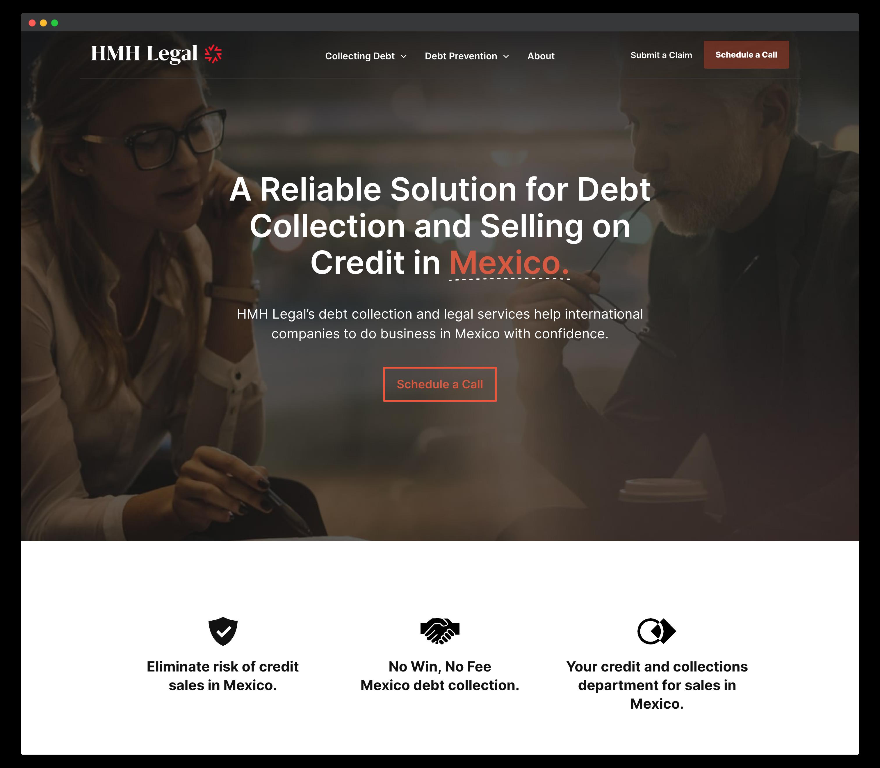 StoryBrand Website Example - HMH Legal