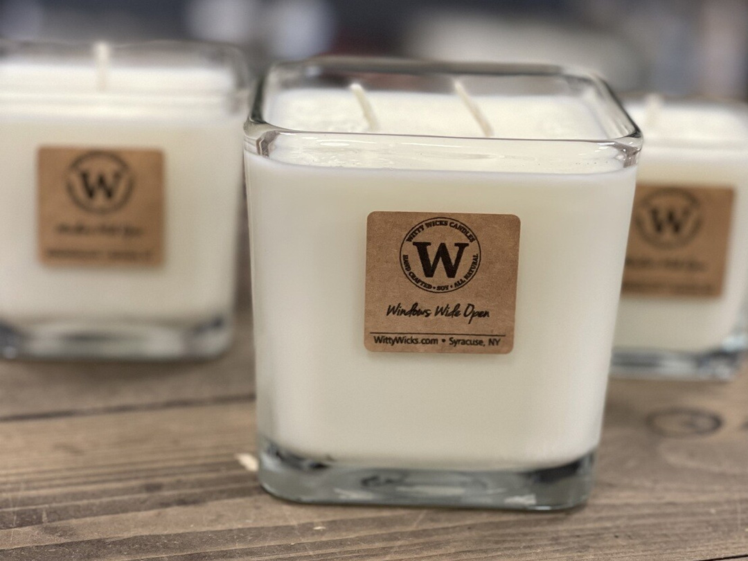 Windows Wide Open candle