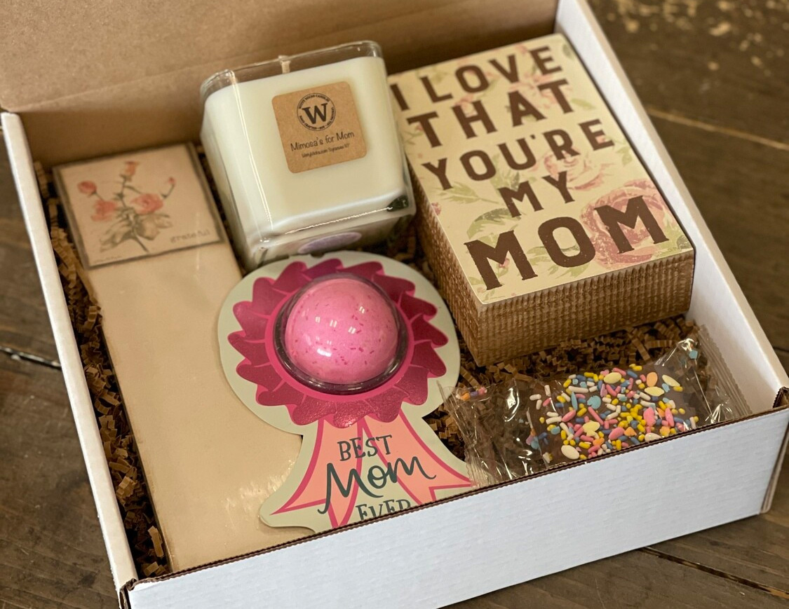 mimosa mothers day gift box