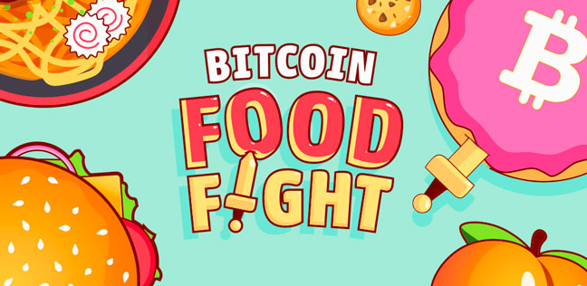 Bitcoin Food Fight - Earn bitcoin by playing game