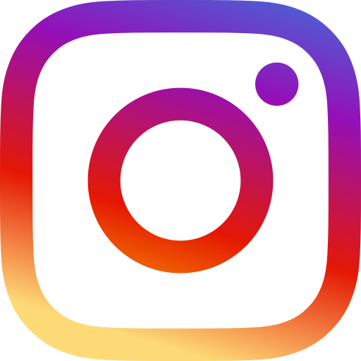 instagram logo: yellow to red to purple gradient at a 45 degree angle