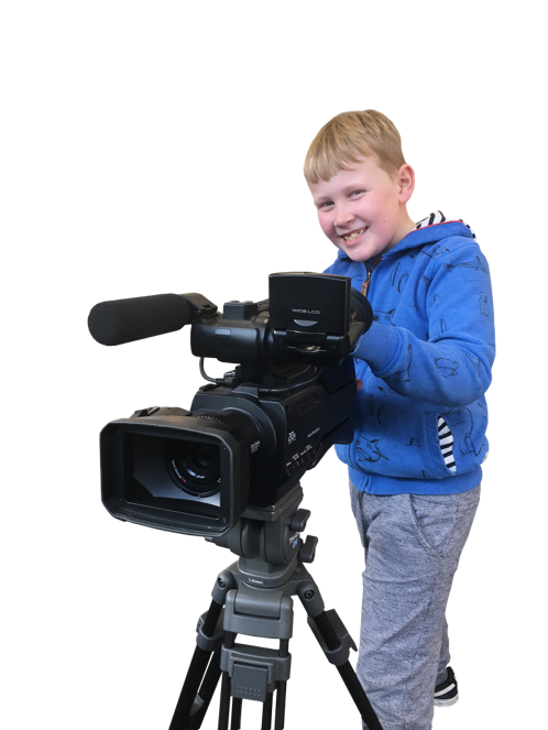 A person holding a cameraDescription automatically generated