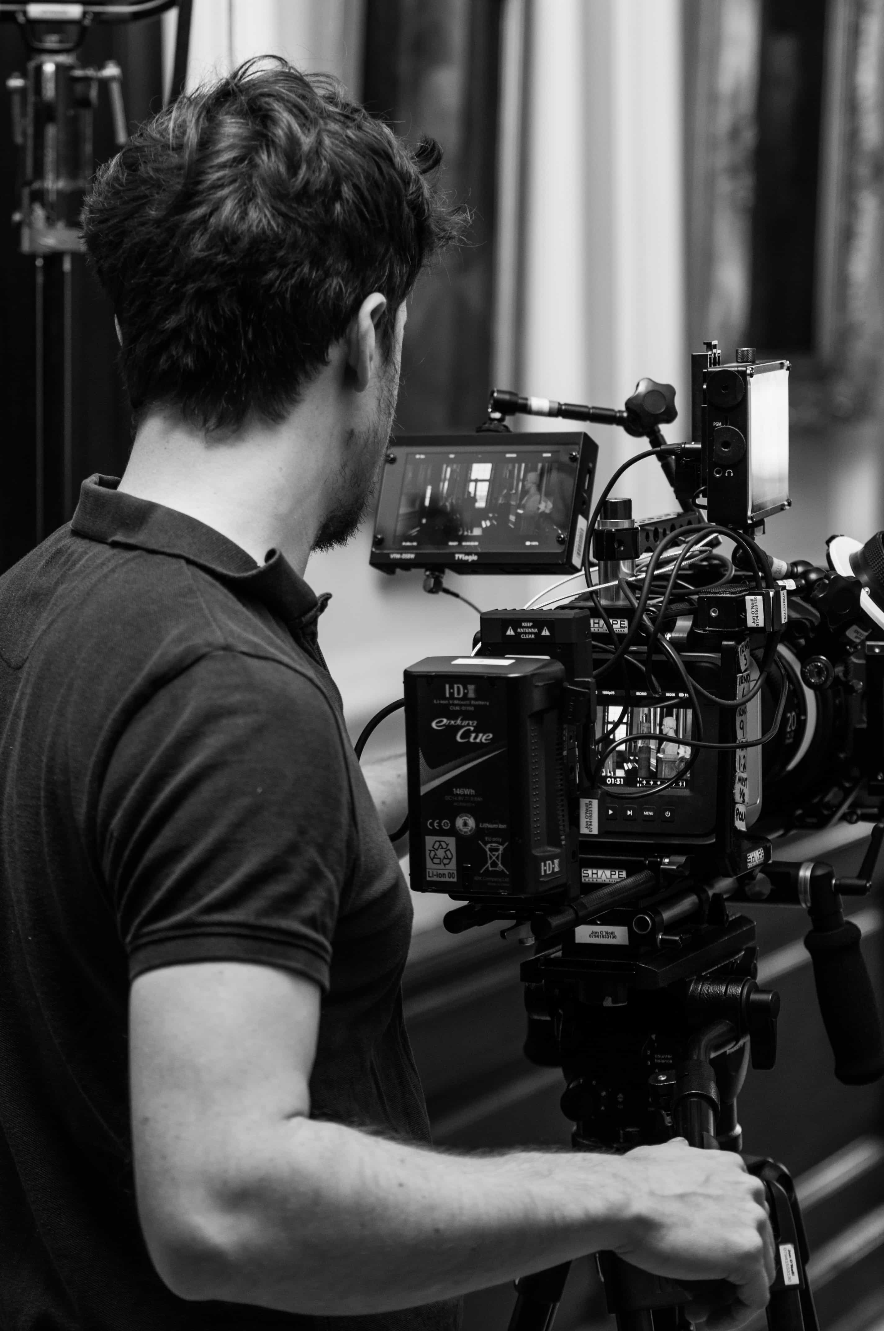 behind the scenes on a corporate video production nottingham