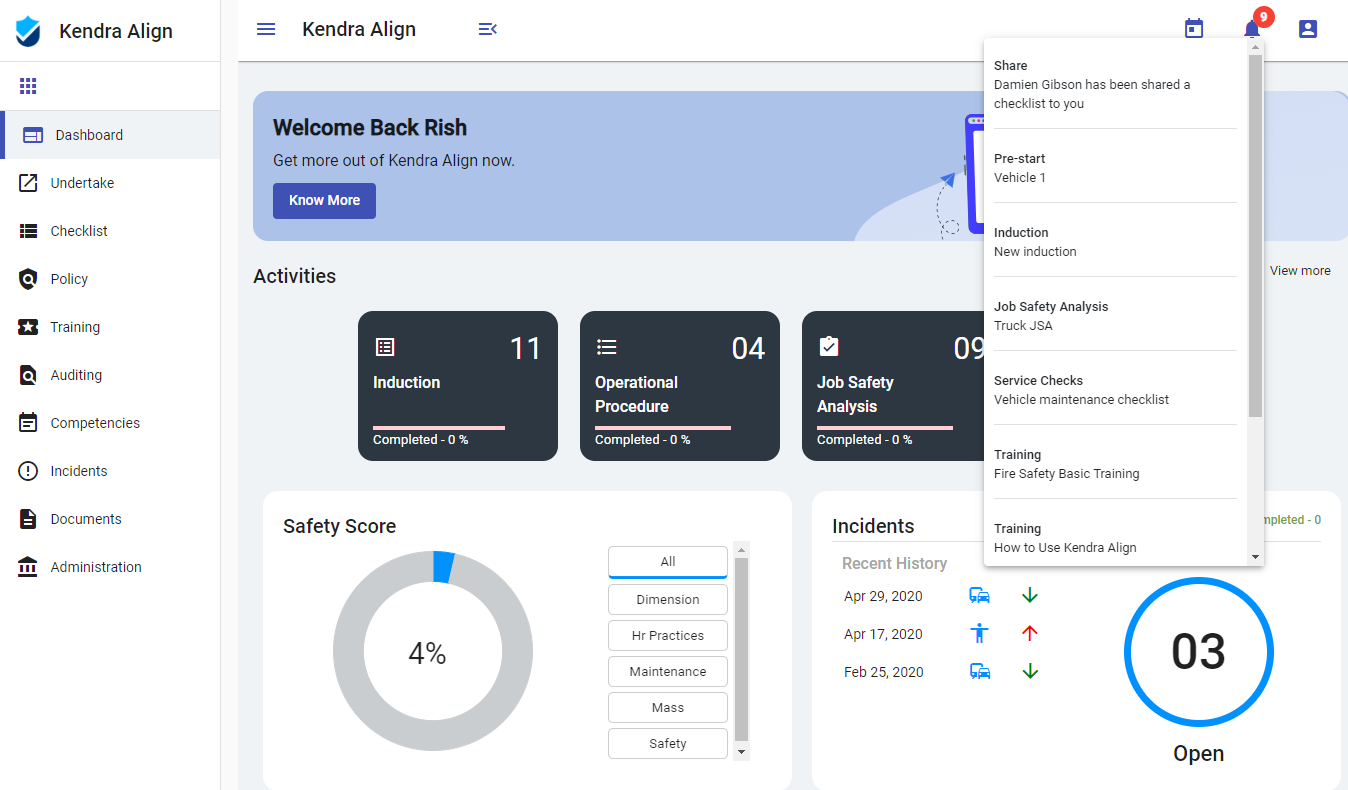 Built-in System Notifications - Kiri Align