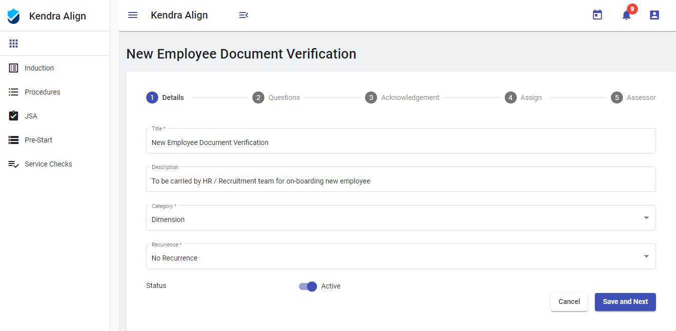 Digital Service Check - Equipment Examination - Kendra Align