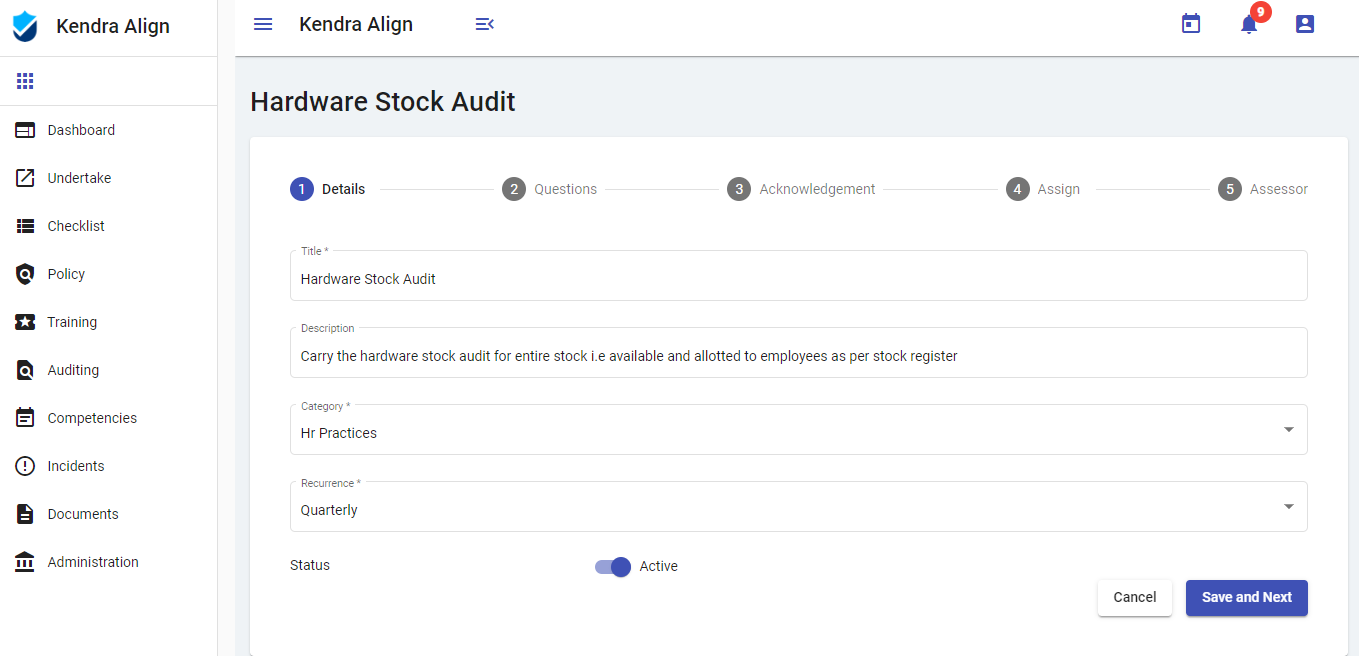 Auditing Health and Safety Management System - Kiri Align