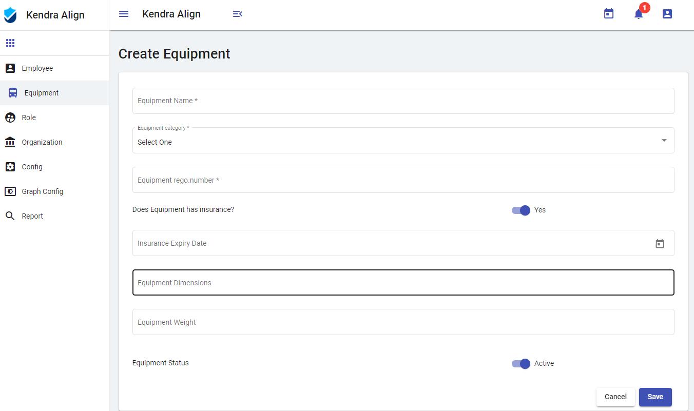 Add New Equipment - Kiri Align