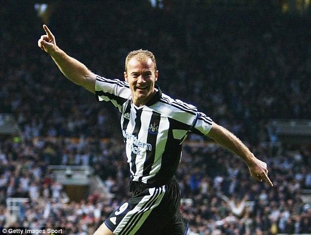 Alan Shearer celebrating goals