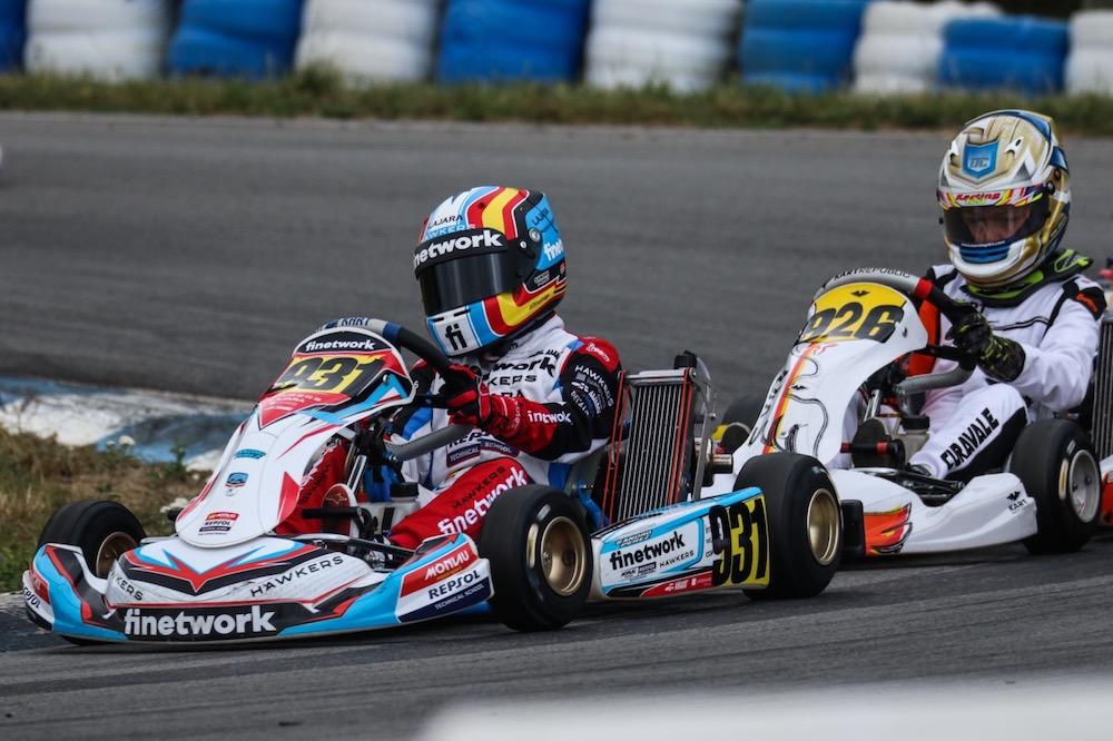 Día complicado para Sandro en las carreras clasificatorias del IAME