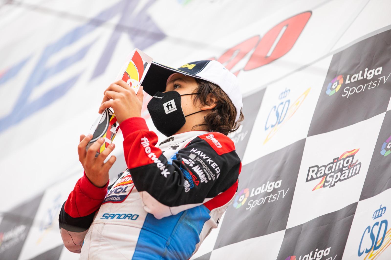 Sandro Pérez, subcampeón del Campeonato de España de Karting