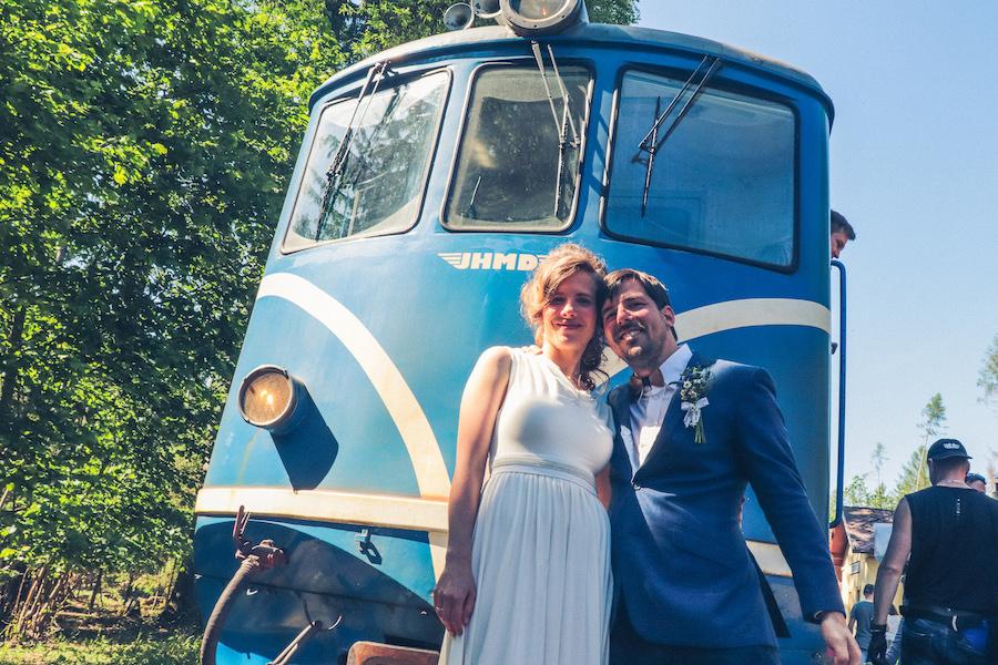 svatba ve vlaku vlakfest