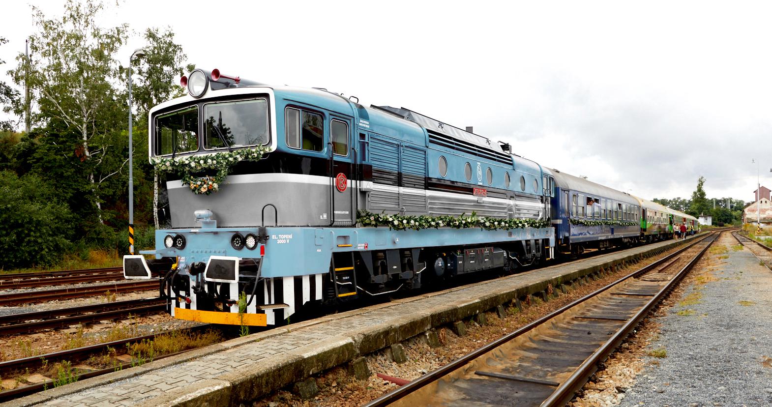 pronajem vlaku na svatbu