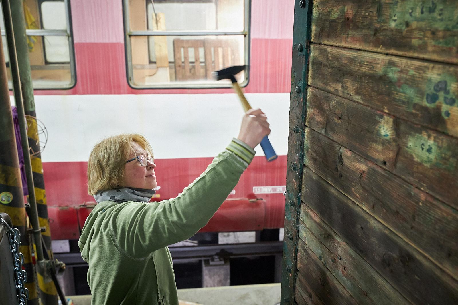 oprava saunovy vagon vlakfest