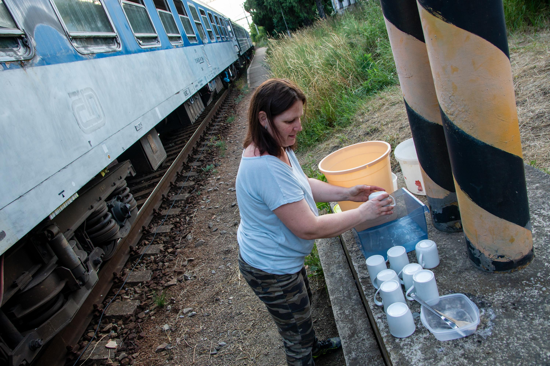 Azylový vlak zázemí