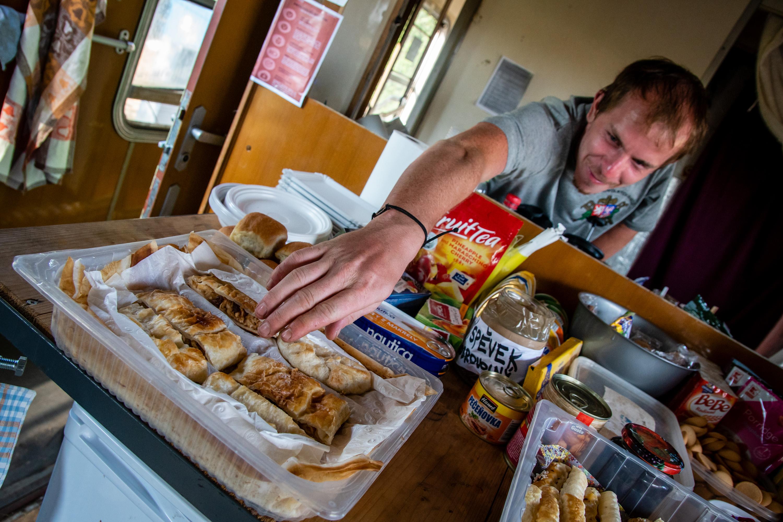 Azylový vlak jídlo