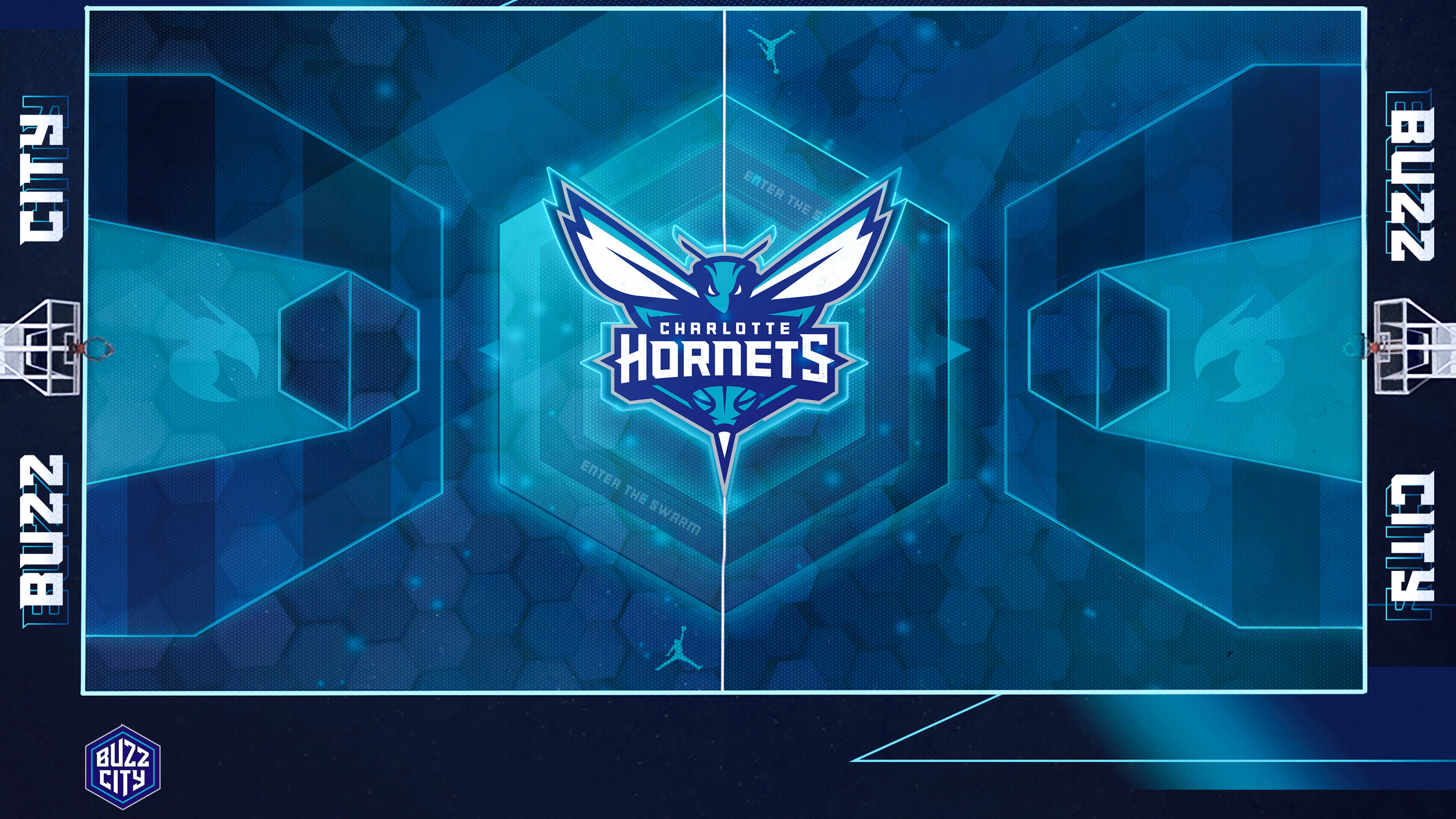 Charlotte Hornets outdoors court
