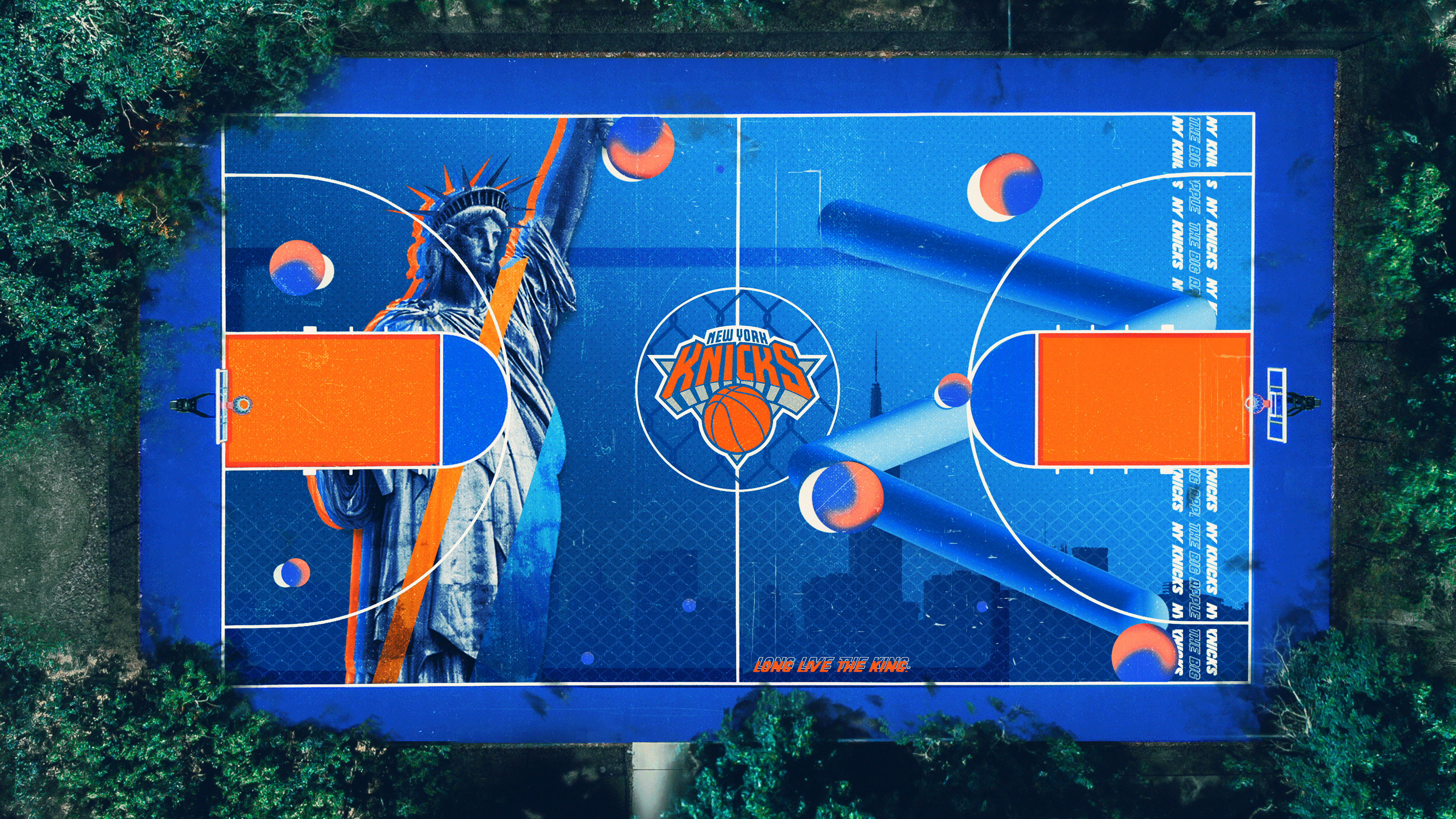 New York Knicks outdoors court