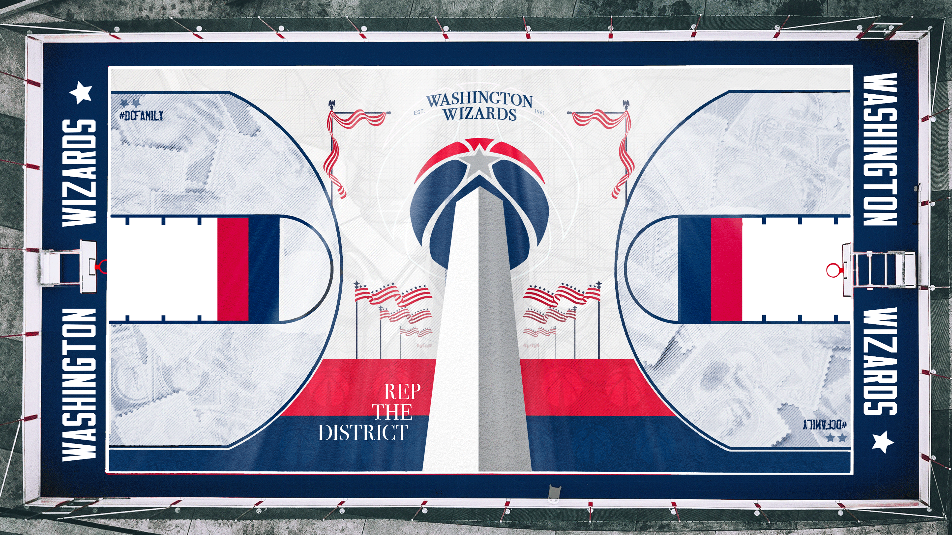 Washington Wizards outdoors court