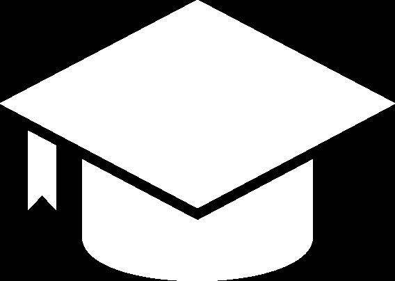 White Graduation Cap icon