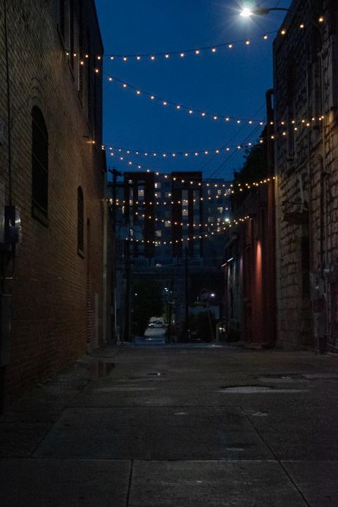 Kissing Alley, San Marcos, Texas.