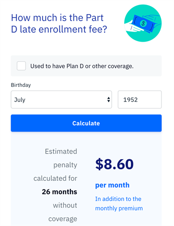 Medicare Part D penalty calculator