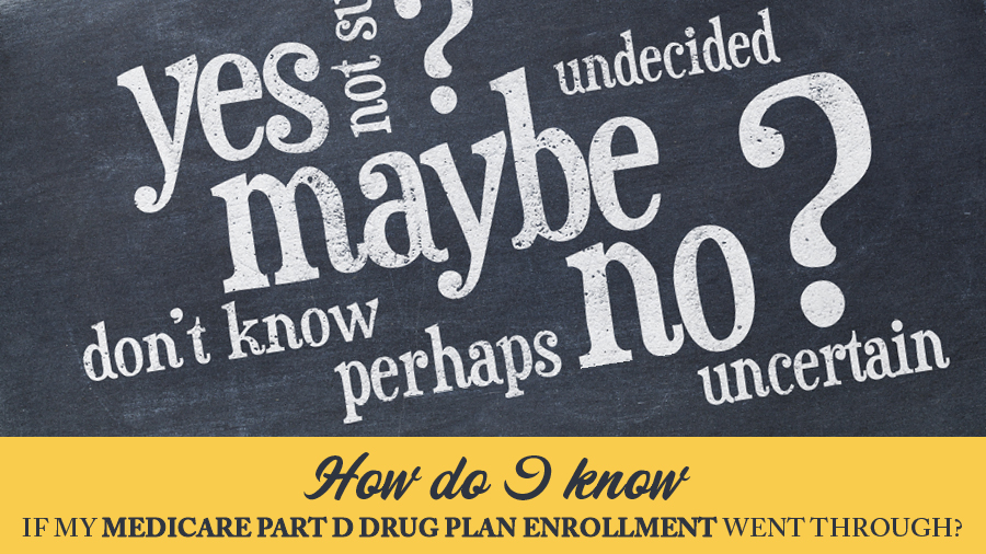 How do I know if my Medicare Part D Drug Plan enrollment went through?