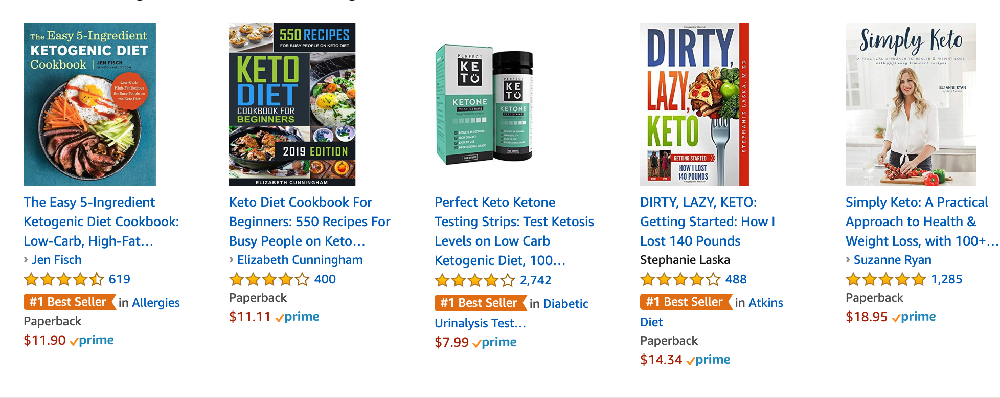 Ketosis Books on Amazon Ketogenic Diet