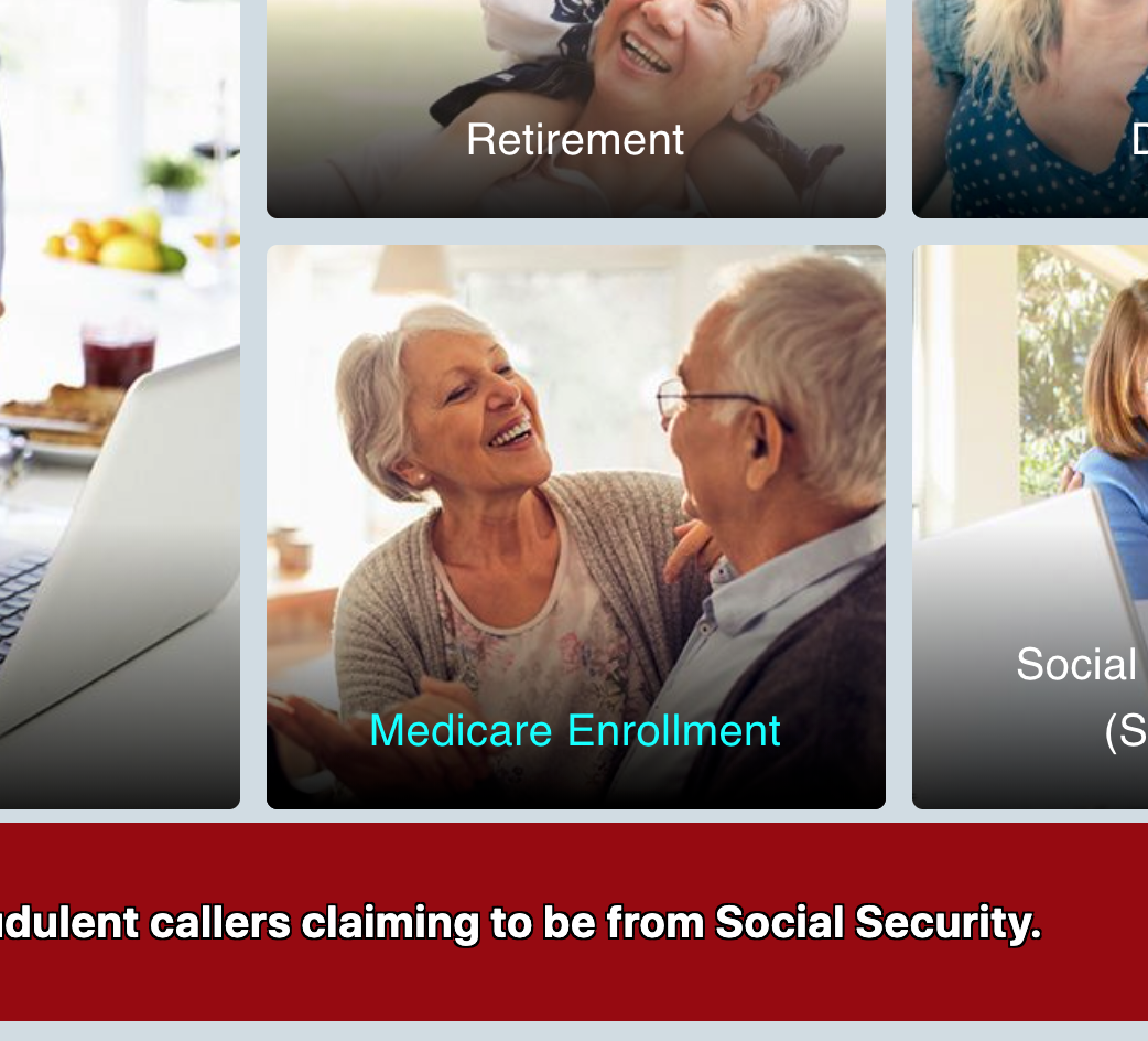 Click on Medicare Enrollment