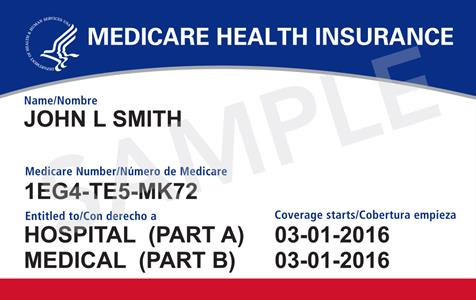 What does the new Medicare card look like