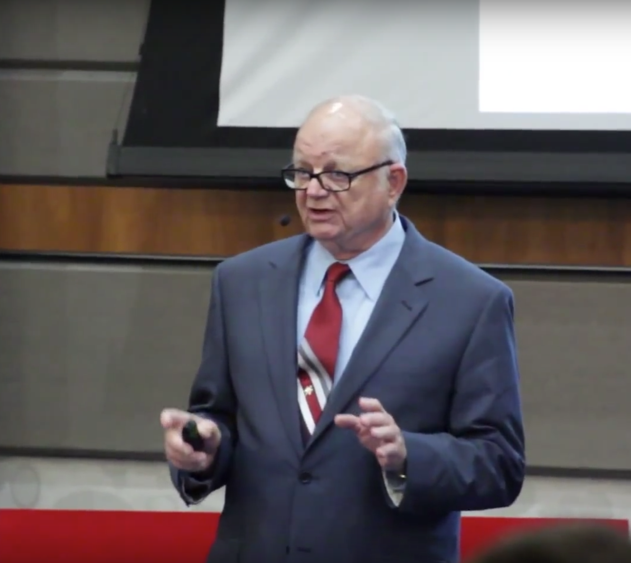 William Klemm giving a TEDx Talk