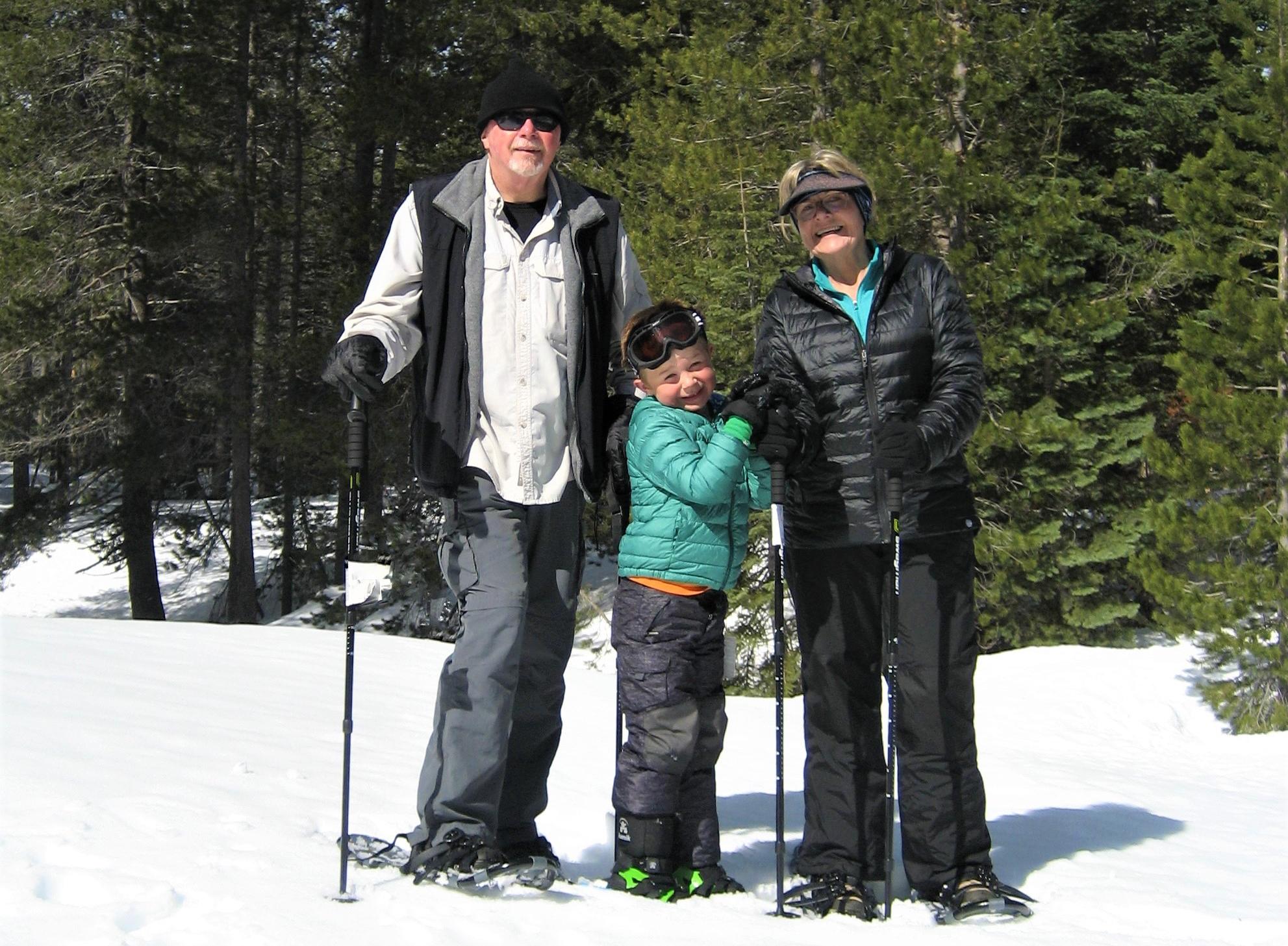 Charlie Basham snowshoeing