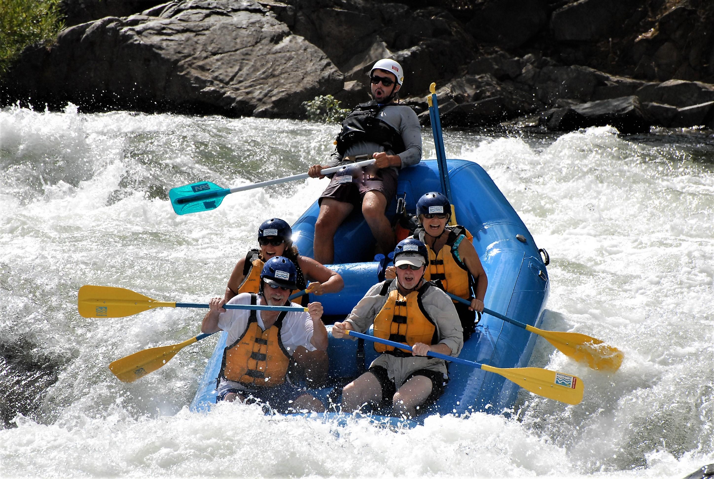Charlie and Eddie Basham water rafting