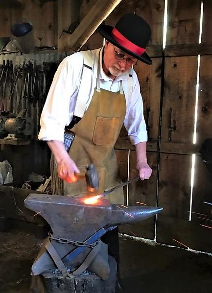 Charlie Basham blacksmithing