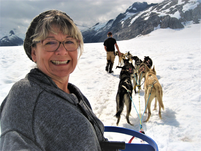 Eddie Basham dog sledding